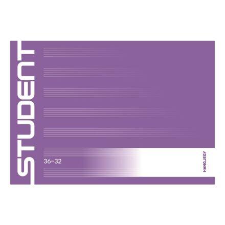 Füzet ICO Student 36-32 fekvő hangjegy