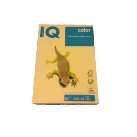 Fénymásolópapír színes IQ Color A/3 80 gr pasztell sárga YE23 500 ív/csomag