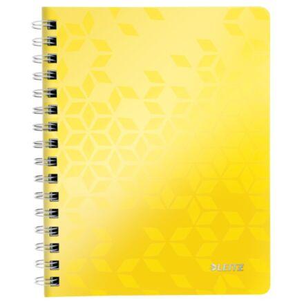 Spirálfüzet LEITZ Wow A/5 80 lapos kockás sárga