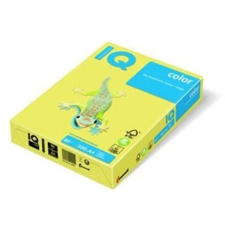 Fénymásolópapír színes IQ Color A/4 80 gr trend citrom ZG34 500 ív/csomag