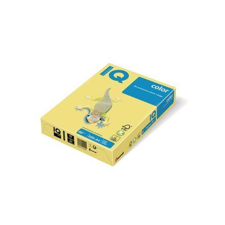 Fénymásolópapír színes IQ Color A/4 80 gr pasztel sárga YE23 500 ív/csomag