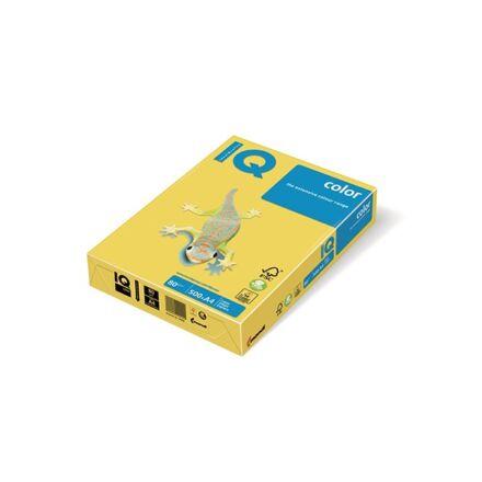 Fénymásolópapír színes IQ Color A/4 80 gr intenzív sárga IG50 500 ív/csomag