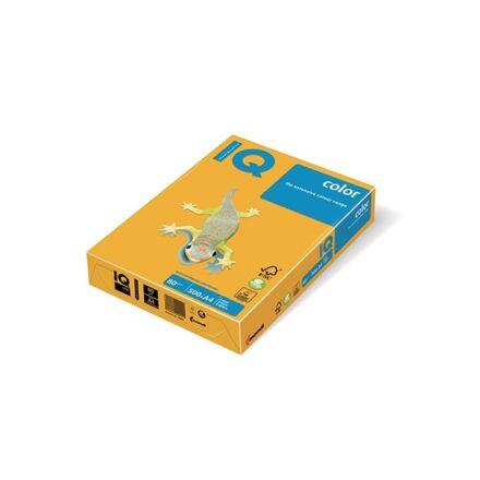 Fénymásolópapír színes IQ Color A/4 80 gr intenzív napsárga SY40 500 ív/csomag