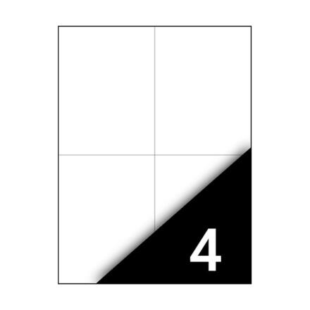 Etikett FORTUNA 105x148mm univerzális 400 címke/doboz 100 ív/doboz