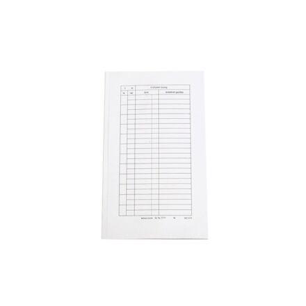Nyomtatvány bérfizetési boríték fehér