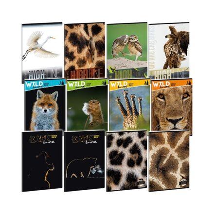 Füzet ARS UNA A/4 40 lapos vonalas Wild Life Moments