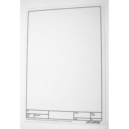 Rajzlap műszaki A/4 keretezett 200 ív/csomag