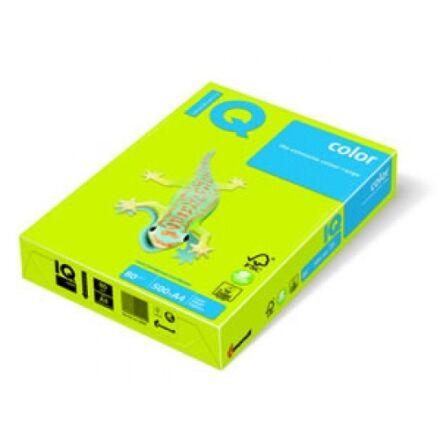 Fénymásolópapír színes IQ Color A/4 160 gr intenzív májuszöld MA42 250 ív/csomag