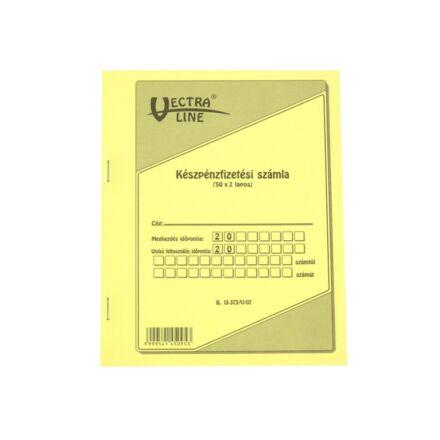 Nyomtatvány készpénzfizetési számlatömb  VECTRA-LINE 50x2 álló