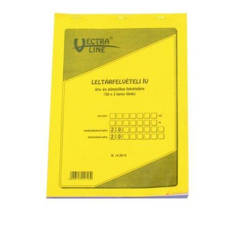 Nyomtatvány leltárfelviteli ív áru és göngyöleg felvételére VECTRA-LINE 50x3