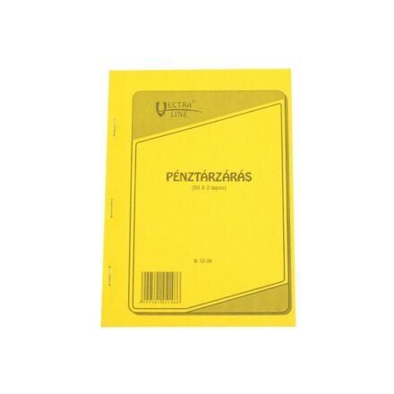 Nyomtatvány pénztárzárás VECTRA-LINE A/5 50x2 lapos