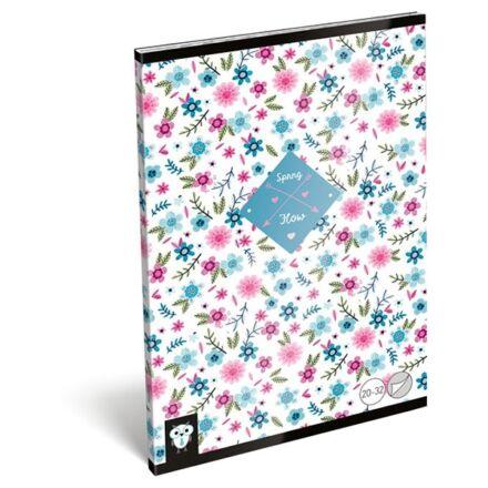 Füzet LIZZY CARD A/5 32 lapos sima 20-32 Flower white