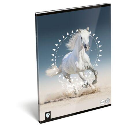 Füzet LIZZY CARD A/4 32 lapos sima 80-32 Horse