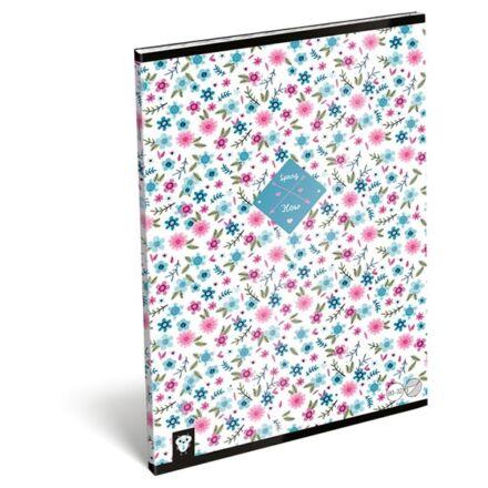 Füzet LIZZY CARD A/4 32 lapos sima 80-32 Flower white