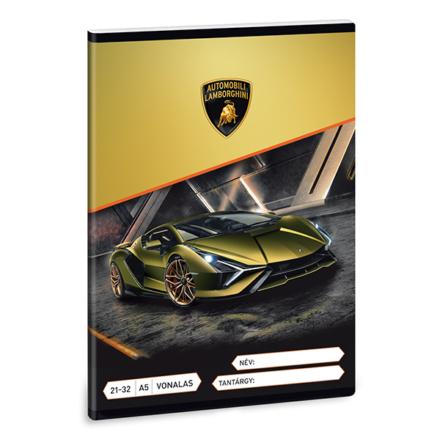 Füzet ARS UNA A/5 32 lapos vonalas 21-32 Lamborghini