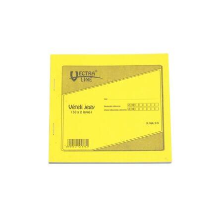 Nyomtatvány vételi jegy VECTRA-LINE 50x2 vegykezelt