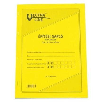 Nyomtatvány építési napló VECTRA-LINE A/4 25x3 álló pótlapokkal