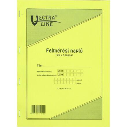 Nyomtatvány felmérési napló VECTRA-LINE A/4 25x5 vegykezelt