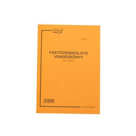 Nyomtatvány fizetővendégkönyv