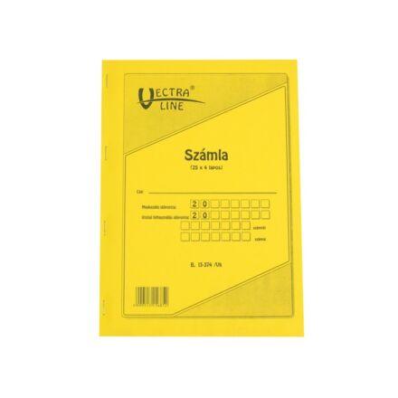 Nyomtatvány számlatömb VECTRA-LINE 25x4 A/4 álló