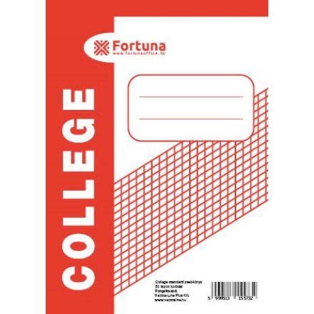 Jegyzettömb spirálos FORTUNA College A/6 50 lapos kockás