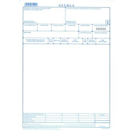 Nyomtatvány számla A/4 5 lapos 100ív/csomag