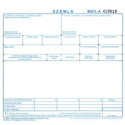 Nyomtatvány számla A/5 5 lapos 100ív/csomag