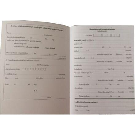 Nyomtatvány várandósok gondozási könyve PÁTRIA