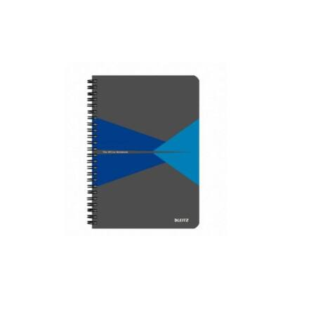 Spirálfüzet LEITZ Office A/4 PP borítóval 90 lapos vonalas kék