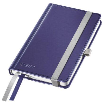 Jegyzetfüzet LEITZ Style A/6 80 lapos kockás titánkék