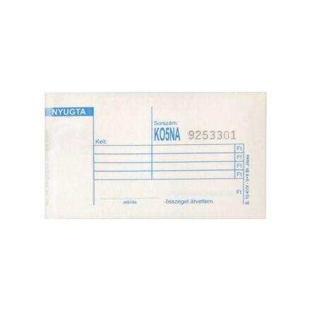 Nyomtatvány nyugta VECTRA-LINE 4 soros 20 db/csomag