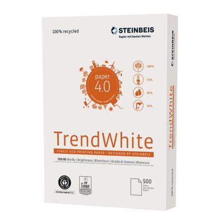 Fénymásolópapír Steinbeis TrendWhite ISO 80-s A/4 újrahasznosított 80 gr 500 ív/csomag