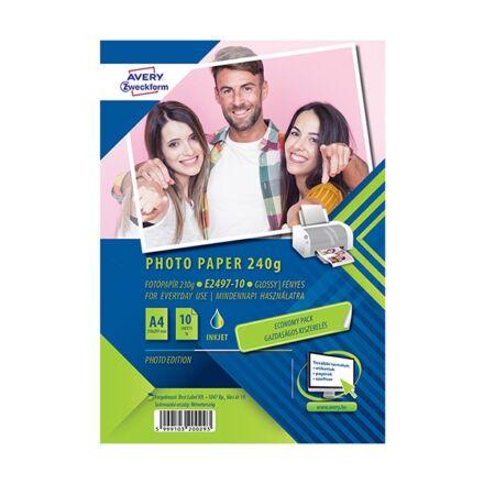 Fotópapír AVERY E2497 A/4 inkjet fényes 240g 100 ív/doboz