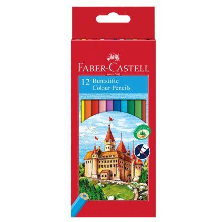Színes ceruza FABER-CASTELL hatszögletű 12 db/készlet
